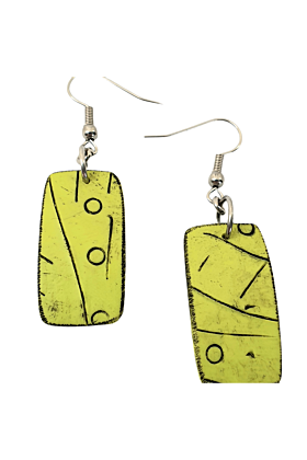 Mawi Isle Palm Trees Polymer Contemporary Earrings