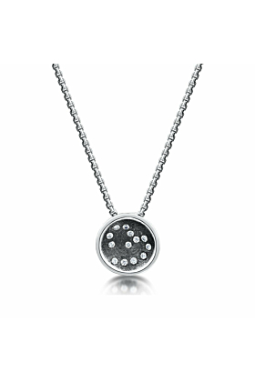 "Sterling Silver & Cubic Zirconia ""Written In The Stars"" Necklace 