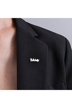 Sterling Silver BAM! Pin