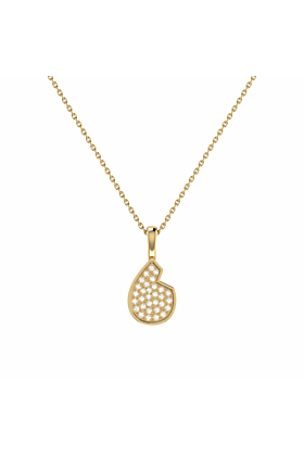 14kt Yellow Gold Plated Street Cycle Pendant