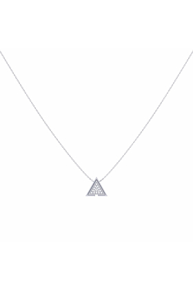 Sterling Silver Skyscraper Triangle Necklace