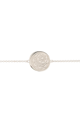 Sterling Silver Moon and Sun Disc Bracelet