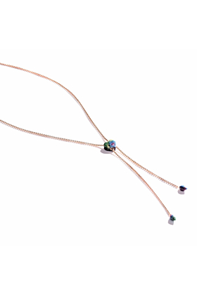 Luv Me Ruby Fuchsite Adjustable Heart Necklace
