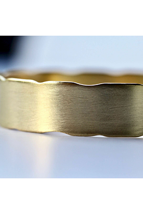 Yellow Gold Plated Handmade Brass Bangle
