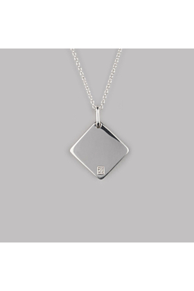 Sterling Silver Diamond Necklace | No. 03