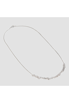 Silver Crocheted Short Necklace