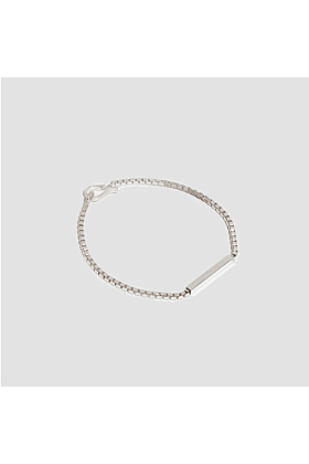 Rhodium Plated Sterling Silver Classic Single Line Bracelet