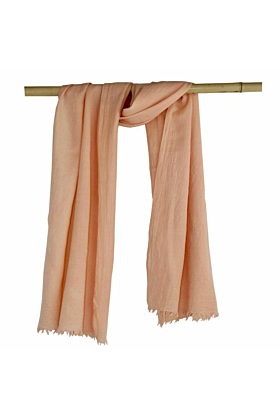 Woollen Naturally Dyed Eco-friendly Shawl Scarf | Botanica Blush Pink
