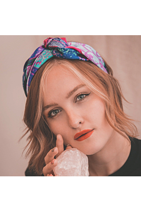 Amber Paisley Head Scarf | Pink