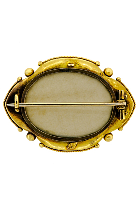 Superb Victorian 14kt Yellow Gold Pearl & Turquoise Locket Compartment Back Brooch