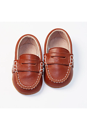 Baby and Toddler Boys Brown Loafers
