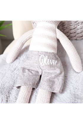 Personalised Bunny Knitted Soft Toy