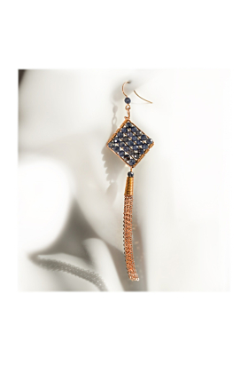 Gold-Filled Jazzie Natural Blue Sapphire Earrings
