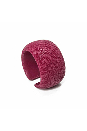 Samba Fuchsia Stingray Leather Bangle
