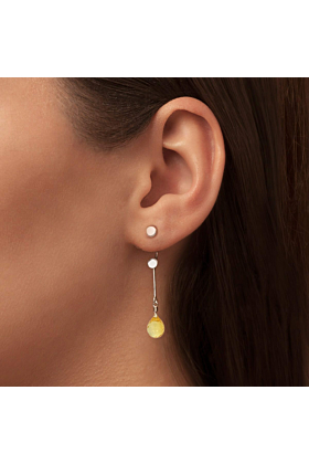 Brilliant Brio Earrings With Citrine - Short Drop