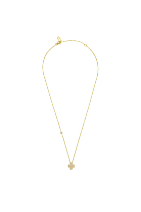 Yellow Gold Plated Lucky Four Leaf Clover Necklace