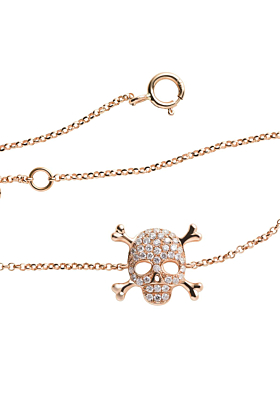18kt Yellow Gold Skull Bracelet