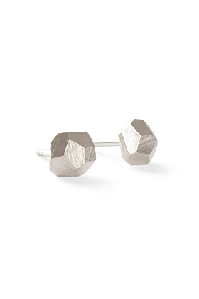 Sterling Silver Geometric Crystal Earrings