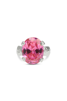 Sterling Silver Pink Alveus Ring | Paul Magen