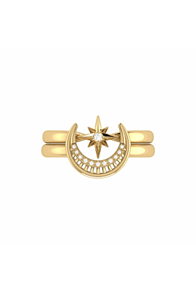 Yellow Gold Plated Nighttime Lovers Detachable Ring