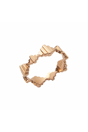 Baori Solid Ring Rose Gold Vermeil