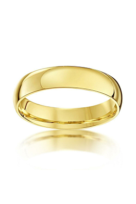 9kt Yellow Gold Court-Shape Wedding Ring