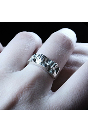 Sterling Silver Sea In The Moonlight Ring