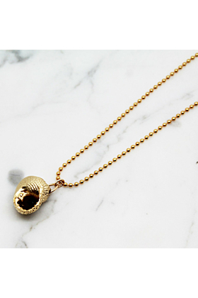 Gold Plated Snail Shell Necklace