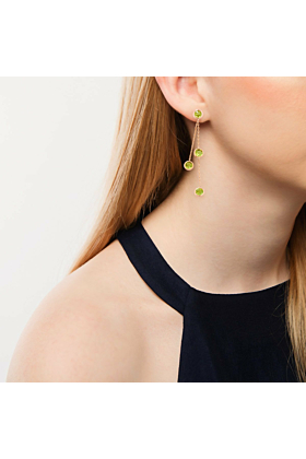 Pimlico Rose Gold Peridot Drop Raindrop Earrings