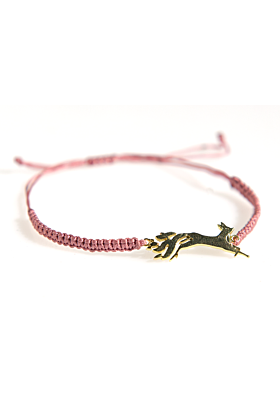 24kt Yellow Gold Plated Kitsune Bracelet