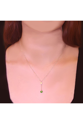 Sparkly Solo Necklace With Peridot