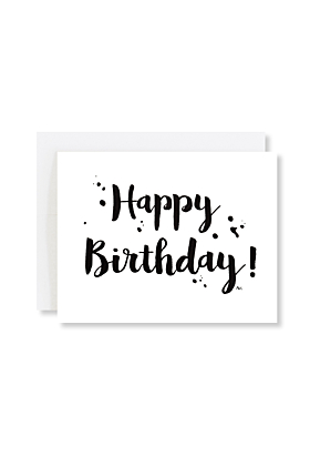 Calligraphy Lettering Happy Birthday Card