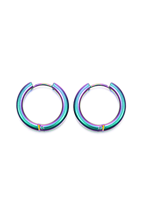 Can You Click It Rainbow Hoop Earrings