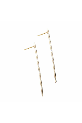 Dew Drop Diamond Pin Earrings