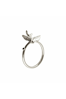 Silver Swallow pinky ring