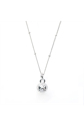 Sterling Silver Plated CC Sport Soccer/Football Charm Necklace