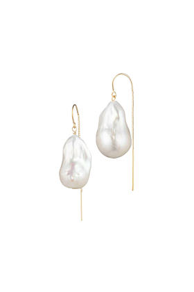 14kt Gold Filled Short Baroque Freshwater Pearl Earrings