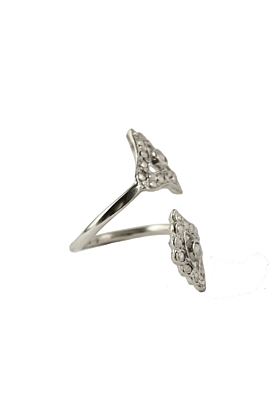 Sterling Silver Double Moonlight Lotus Ring