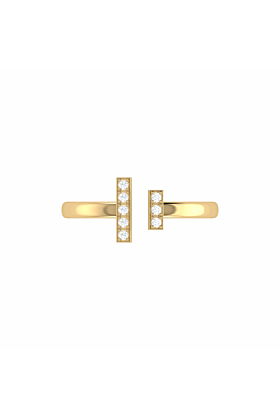 14kt Yellow Gold Plated Parallel Park Ring