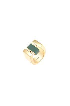 24kt Gold Plated Resin Centrepoint Ring