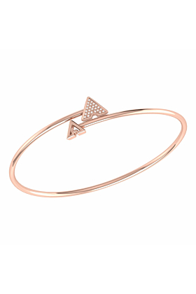 14kt Rose Gold Plated Skyscraper Roof Bangle