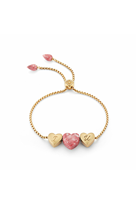 Luv Me Yellow Thulite Adjustable Heart Bracelet