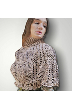 Lace Leaves Cape in Taupe