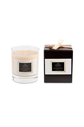 Black Pomegranate Soy Candle | Clear Glass