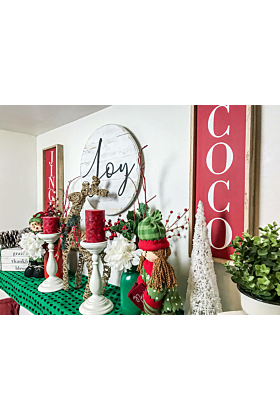 Coco Farmhouse Style Holiday Wall Sign