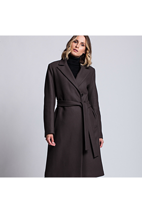 Wool Coat Confidence In Taupe