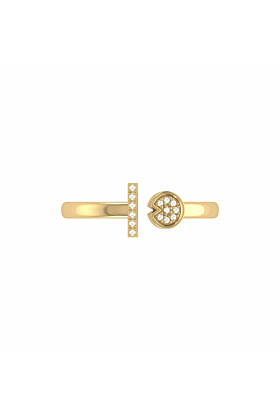 14kt Yellow Gold Plated Pac-Man Lane Ring