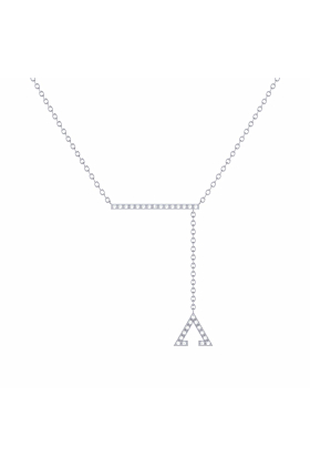 Sterling Silver Crane Lariat Necklace