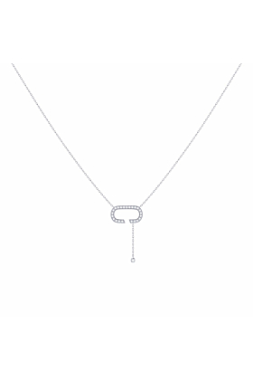Sterling Silver Celia C Drop Lariat Necklace