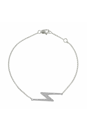 Portobello White Gold Diamond Zig Zag Geo Bracelet